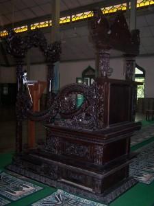 Mimbar Knock-Down Masjid Mangkunegaran