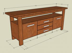 Teak Furniture1 (Credenza)