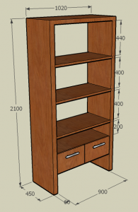 Teak Furniture 3 (bookshelf)