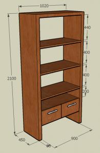 Teak Furniture 3 (bookshelf)