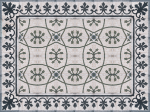 The Floor Design  of Masjid Agung Surakarta
